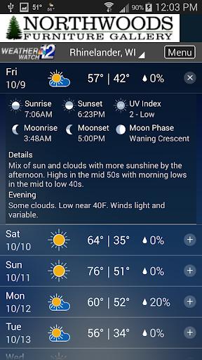 WJFW WeatherWatch 12 4 تصوير الشاشة