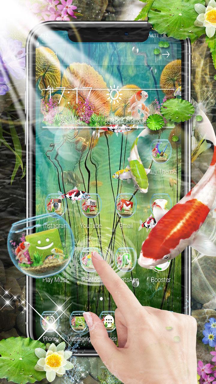 3D Koi Fish Launcher screenshot 1