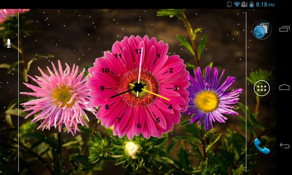 Flowers Clock Live Wallpaper 1 تصوير الشاشة
