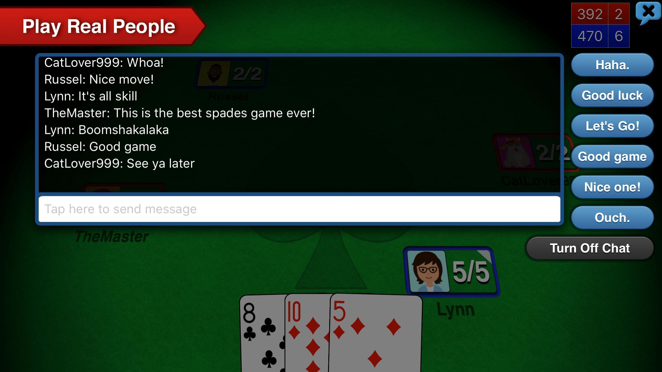 Spades + 5 تصوير الشاشة