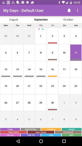 My Days - Ovulation Calendar & Period Tracker ™ 1 تصوير الشاشة