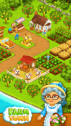 Farm Town: Happy farming Day & food farm game City screenshot 1