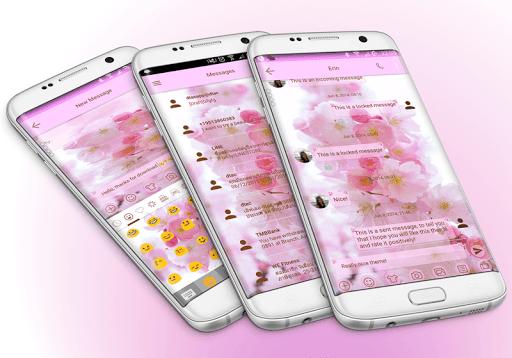 SMS Messages Love Cherry Theme screenshot 1