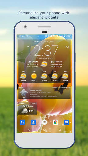 Weather & Clock Widget for Android screenshot 1