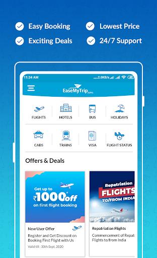 EaseMyTrip – Cheap Flights, Hotels, Bus & Holidays 1 تصوير الشاشة