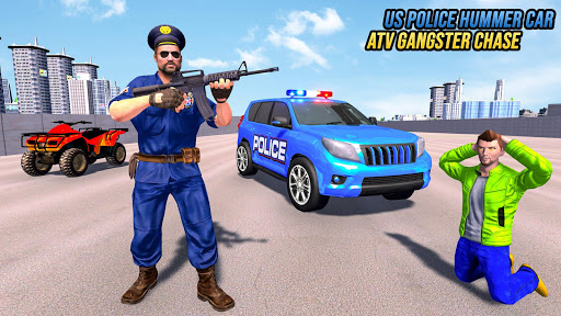 US Police ATV Quad Bike Hummer: Police Chase Games स्क्रीनशॉट 3