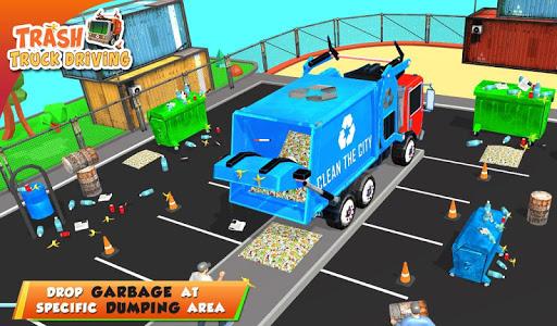 Urban Garbage Truck Driving - Waste Transporter screenshot 13