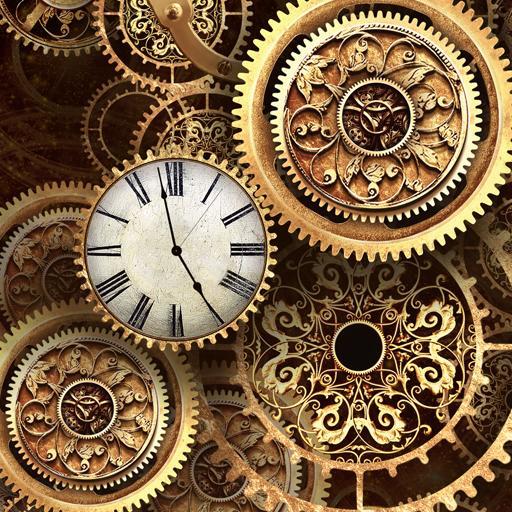 FREE Gold Clock Live Wallpaper أيقونة