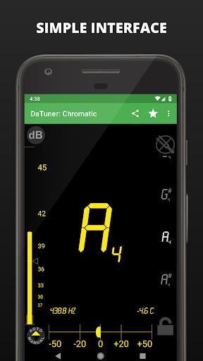 Guitar Tuner, Bass, Violin, Banjo & more | DaTuner 2 تصوير الشاشة