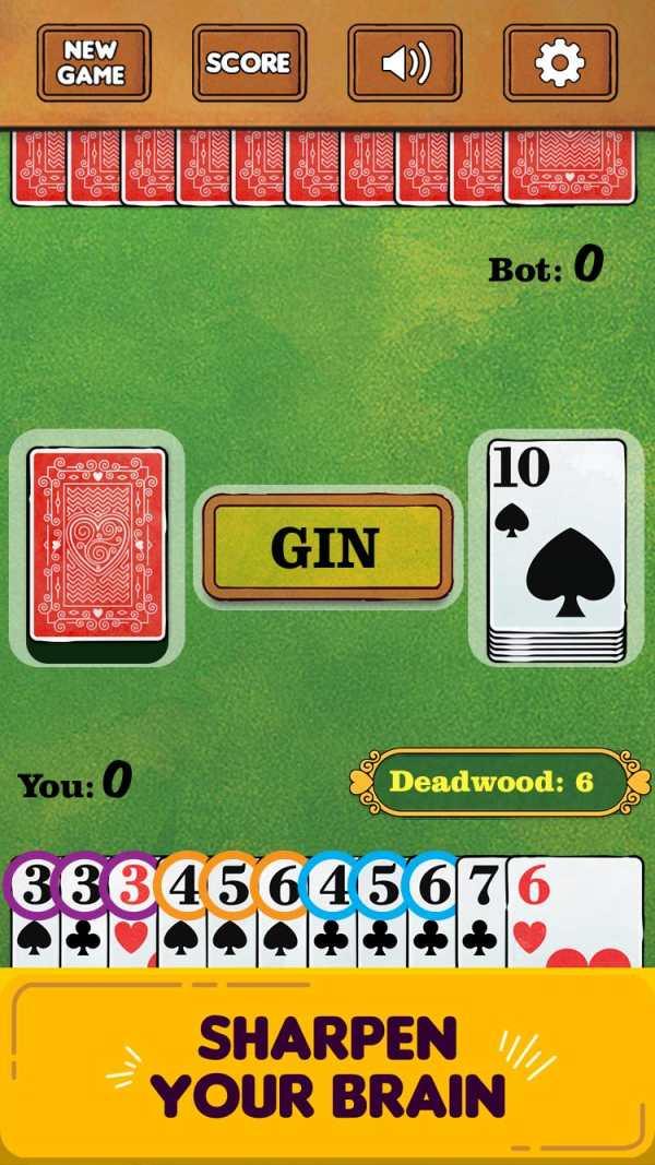 Gin Rummy Free! screenshot 2