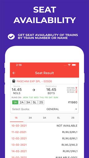 Indian Railway Timetable - Live train location screenshot 3