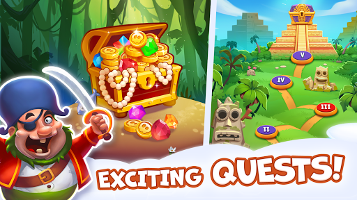 Pirate Treasures - Gems Puzzle 2 تصوير الشاشة