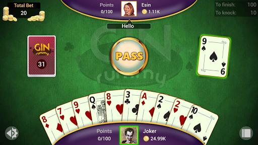 Gin Rummy - Offline Free Card Games 5 تصوير الشاشة