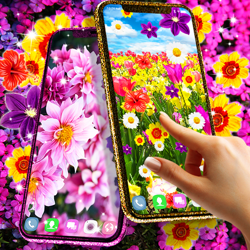 Flowers live wallpaper أيقونة