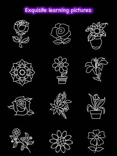 Learn To Draw Glow Flower скриншот 16