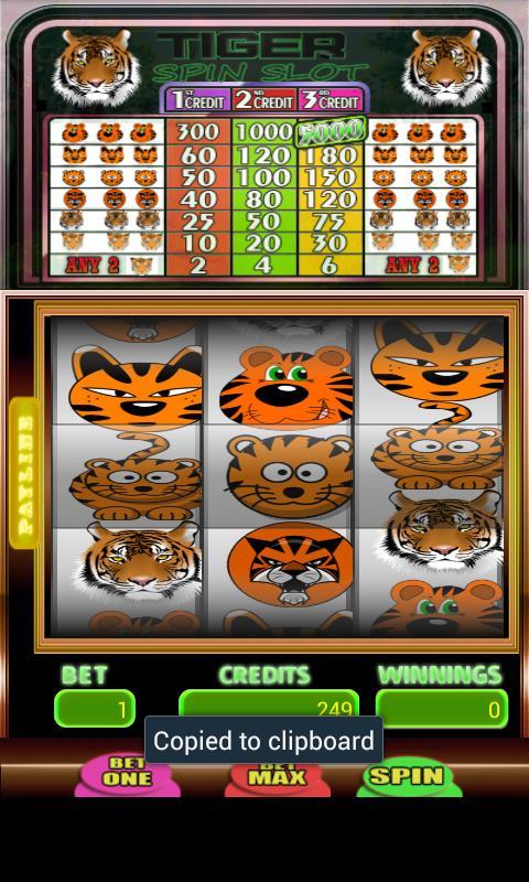 Tiger Spin Slot 3 تصوير الشاشة