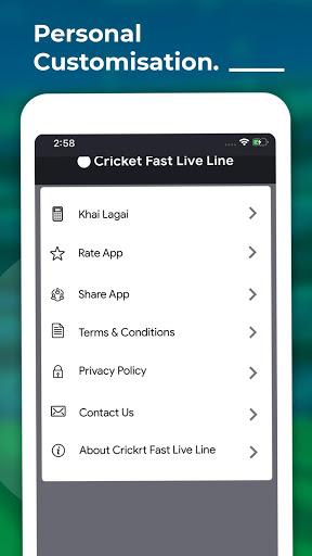 Cricket Fast Live Line 5 تصوير الشاشة