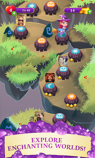 Bubble Witch 3 Saga 4 تصوير الشاشة
