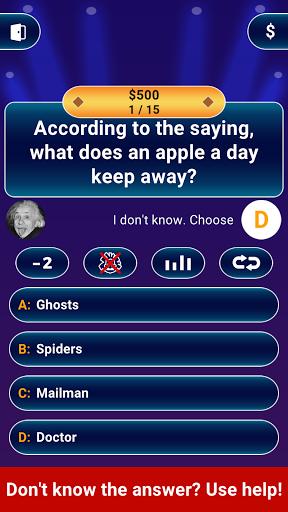 Millionaire 2021 -  Free Trivia Quiz Offline Game 3 تصوير الشاشة