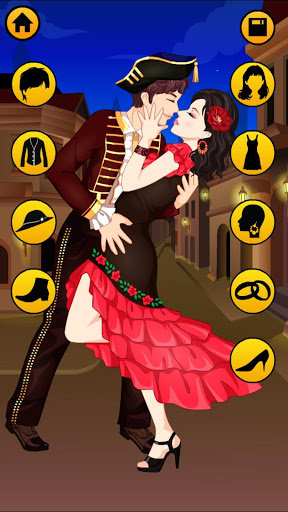 Kissing Dressup For Girls - Cute Couple Makeover screenshot 2