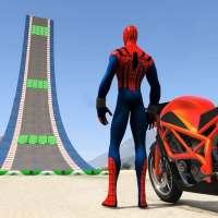 Superhero Bike Stunt GT Racing - Mega Ramp Games on 9Apps