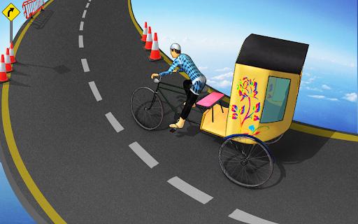 Bicycle Rickshaw Simulator 2019 : Taxi Game screenshot 7