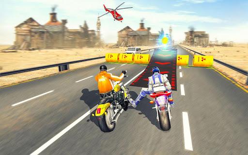 Bike Attack Race : Highway Tricky Stunt Rider screenshot 6