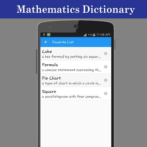 Mathematics Dictionary screenshot 5