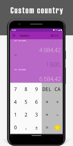 VAT Calculator 4 تصوير الشاشة