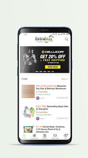 Extrabux - Deals & Cashback screenshot 1