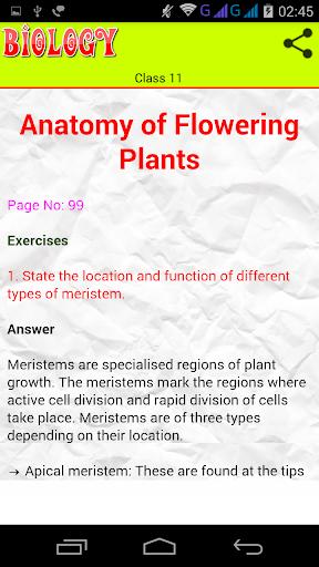 Class 11 Biology Solutions screenshot 4