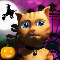 Halloween Cat Theme Park 3D on 9Apps