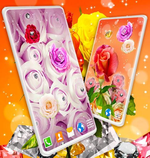 Diamond Rose Live Wallpaper ❤️ Shine HD Wallpapers 5 تصوير الشاشة