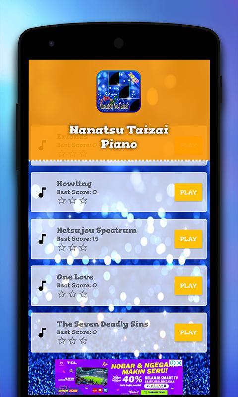 Piano Nanatsu No Taizai 1 تصوير الشاشة