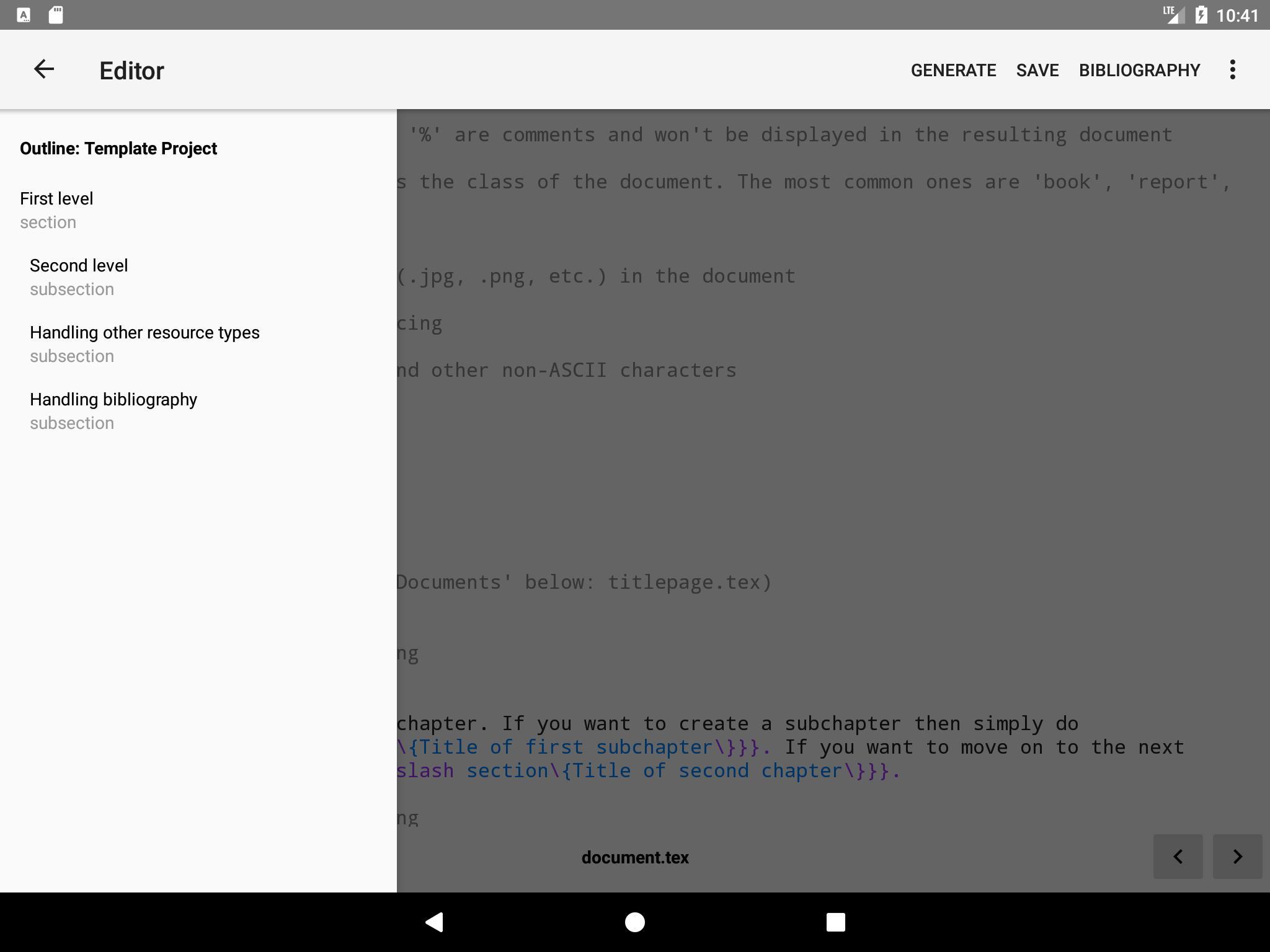 VerbTeX LaTeX Editor screenshot 6