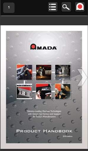 Amada Product Handbook 1 تصوير الشاشة