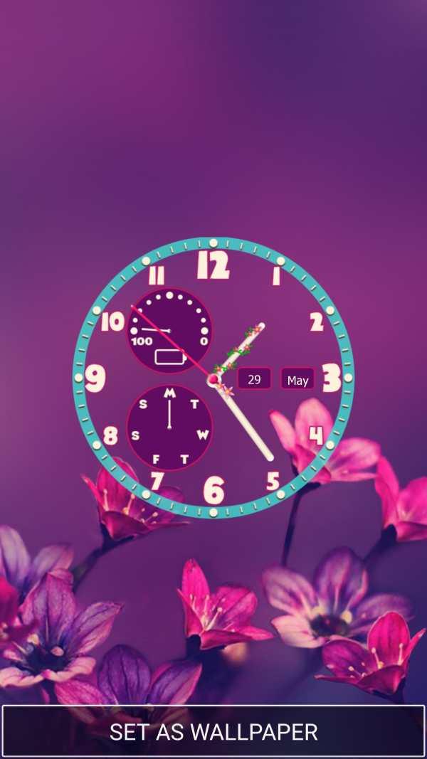 Flower Clock Wallpaper screenshot 1