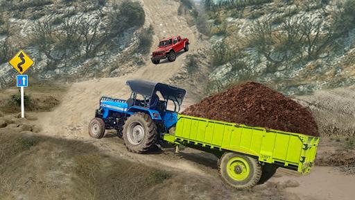 Real Tractor Trolley Cargo Farming Simulation Game screenshot 3