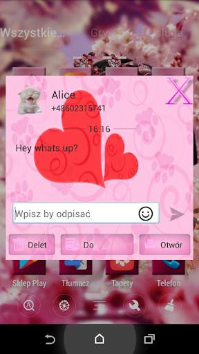 Pink Cats Theme GO SMS Pro screenshot 3