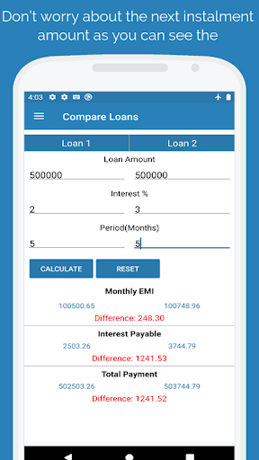 EMI Calculator - Loan & Finance Planner screenshot 3