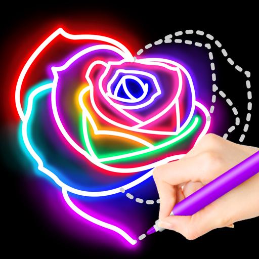 Learn To Draw Glow Flower иконка