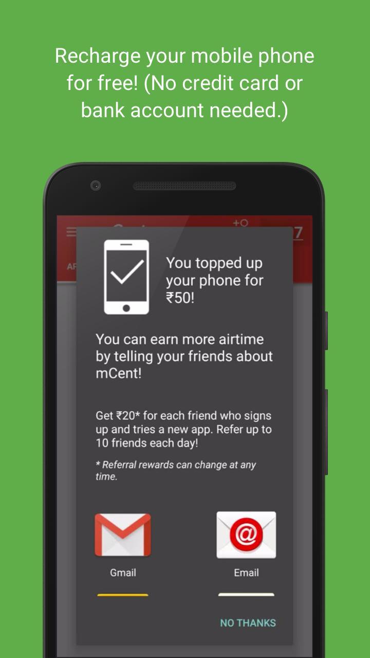 mCent - Free Mobile Recharge 3 تصوير الشاشة