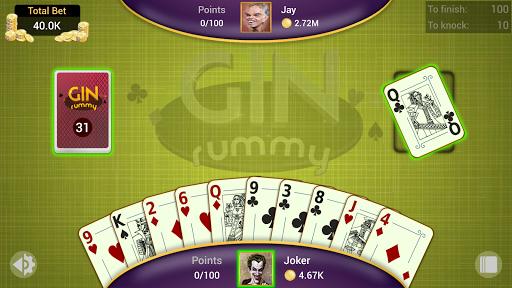 Gin Rummy - Offline Free Card Games 6 تصوير الشاشة