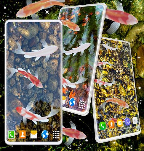 HD Koi Live Pond 3D 🐟 Fish 4K Live Wallpaper Free screenshot 6