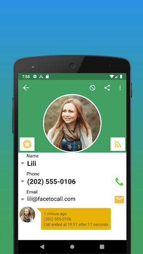 Contacts, Dialer and Phone by Facetocall screenshot 4
