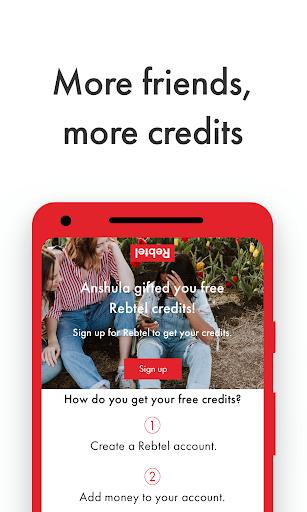 تطبيق Rebtel: مكالمات دولية رخيصة 7 تصوير الشاشة