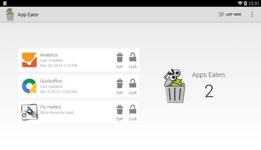App Eater (Uninstaller) 6 تصوير الشاشة