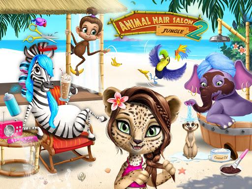 Jungle Animal Hair Salon 2 - Tropical Beauty Salon स्क्रीनशॉट 10