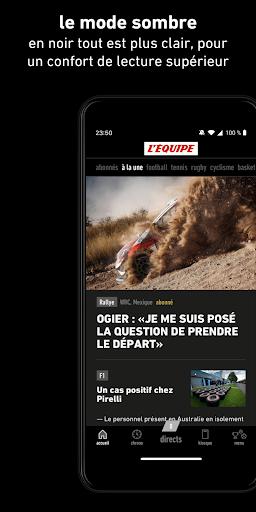 L'Équipe - Sport en direct : foot, tennis, rugby.. screenshot 7