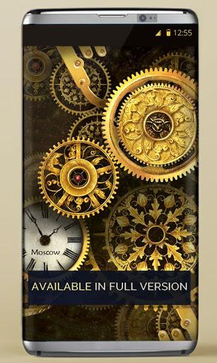 FREE Gold Clock Live Wallpaper 6 تصوير الشاشة